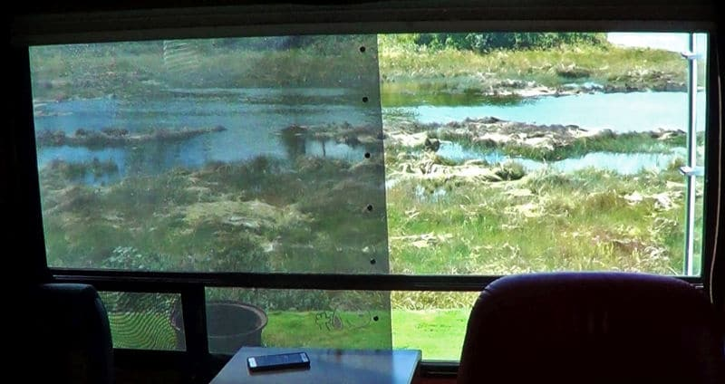 Window Half Shade Half Clear Comparison Photo