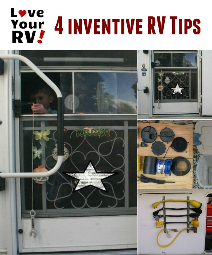 4 Inventive Little RV Tips and Tricks submitted to the Love Your RV blog - https://www.loveyourrv.com