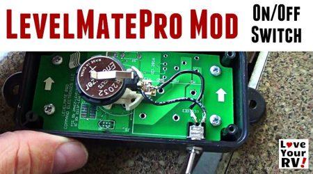 LevelMatePro RV Leveling Aid Added On Off Switch