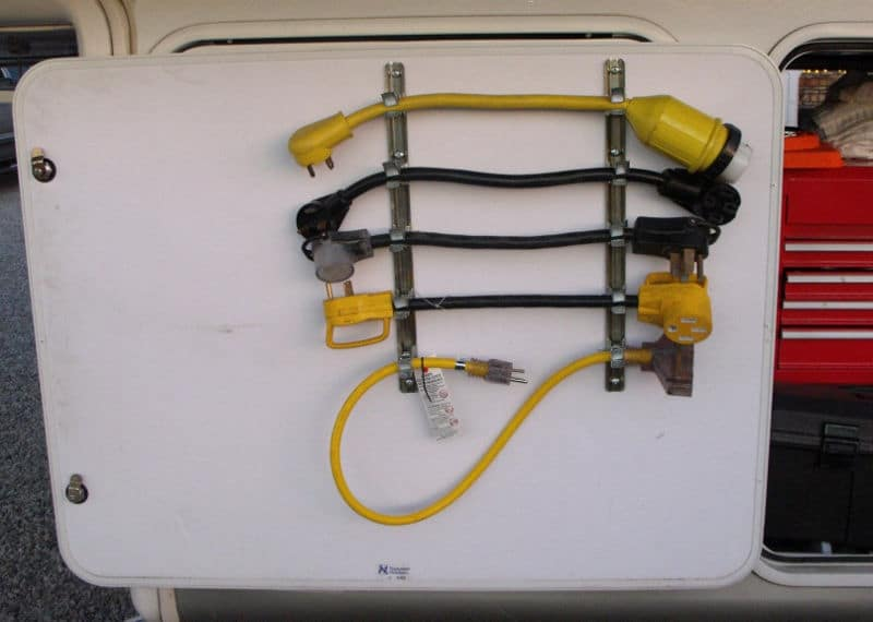 Great RV Power Adapter Cord Storage Tip