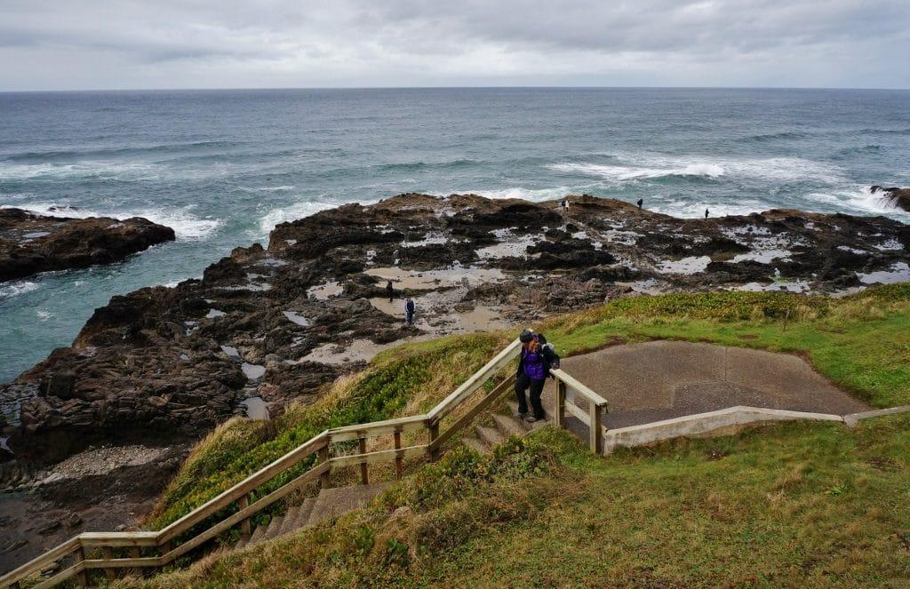 Cape Perpetua On The Oregon Coast Featuring Thors Well