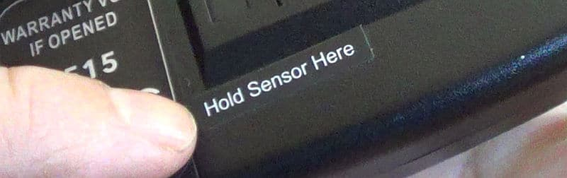 Hold Sensor here tag