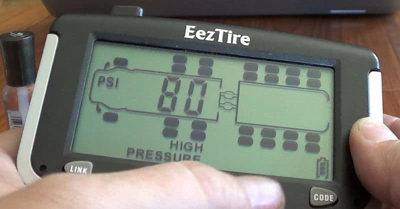 Setting PSI parameters into the EEZRV TPMS