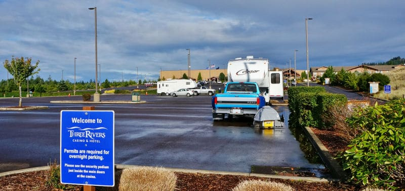 Three Rivers Casino RV Parking