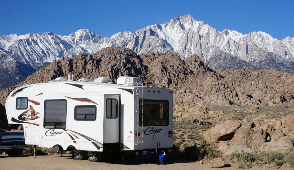 Alabama Hills BLM camping California