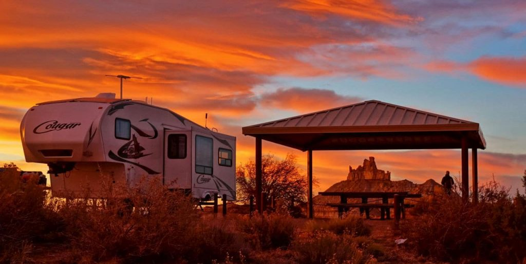 Angel Peak Scenic Area campground New Mexico