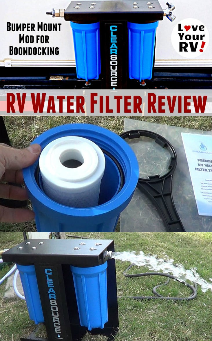 Clearsource RV Water Filter Review and Install Mod by the Love Your RV blog - https://www.loveyourrv.com