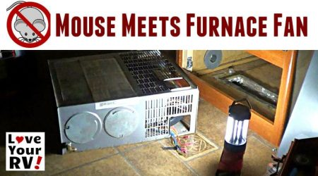 Arrgh! Mouse Jammed in our RV Furnace Fan