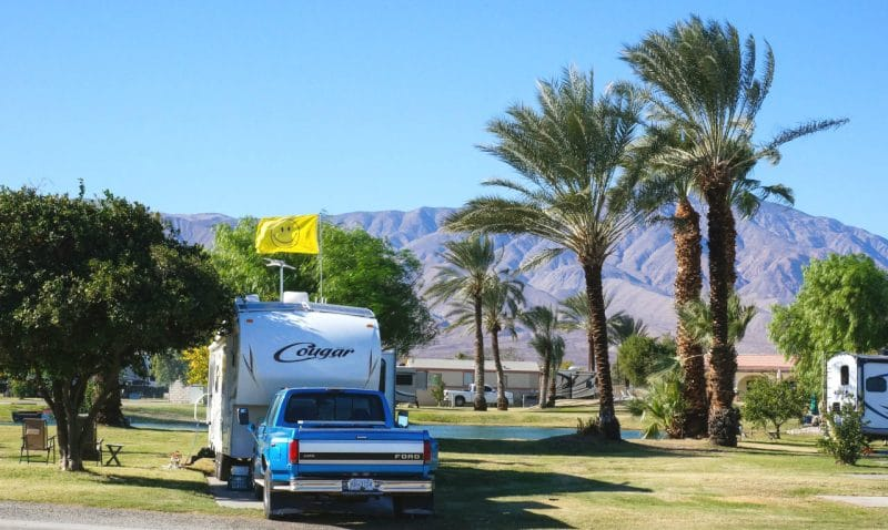 Oasis Palms RV Park near the Salton Sea California