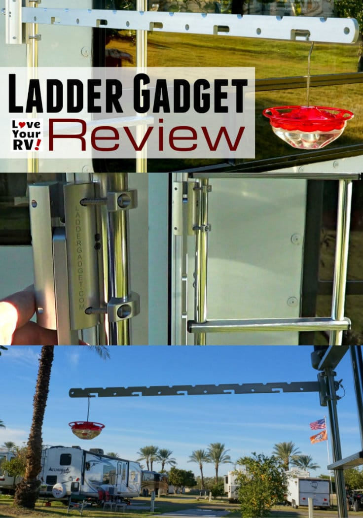 RV Ladder Gadget Review by the Love Your RV blog - https://www.loveyourrv.com