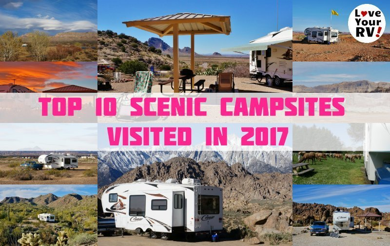 Top 10 Scenic Campsites Visited in 2017 Feature Photo