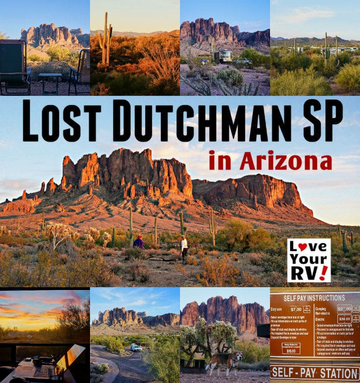 Camping in Lost Dutchman State Park near Phoenix Arizona by the Love Your RV blog - https://www.loveyourrv.com