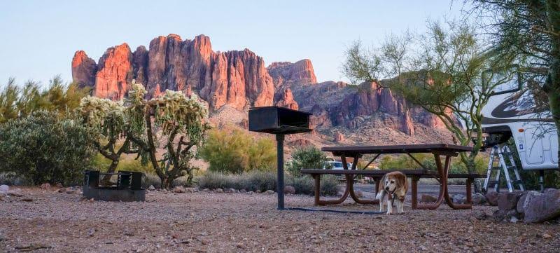 Lost Dutchman campsite