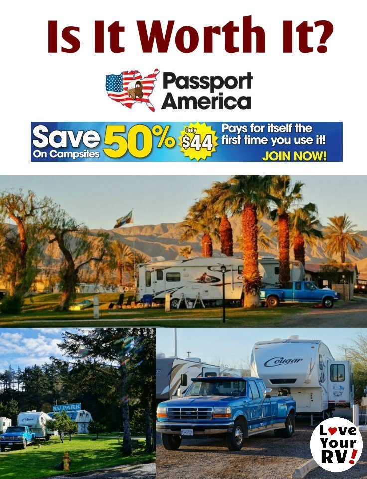Passport America Discount Camping Club Card - Is it worth it? by the Love Your RV blog - https://www.loveyourrv.com