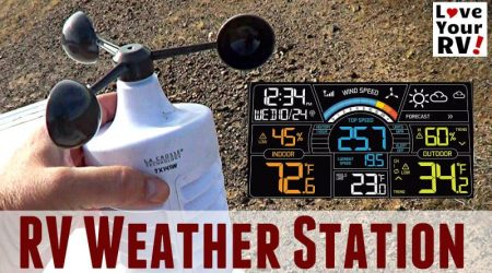 Installed La Crosse Weather Station with Wind Speed on the RV