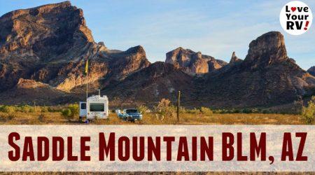 Beautiful Saddle Mountain BLM Dispersed Camping Near Tonopah AZ