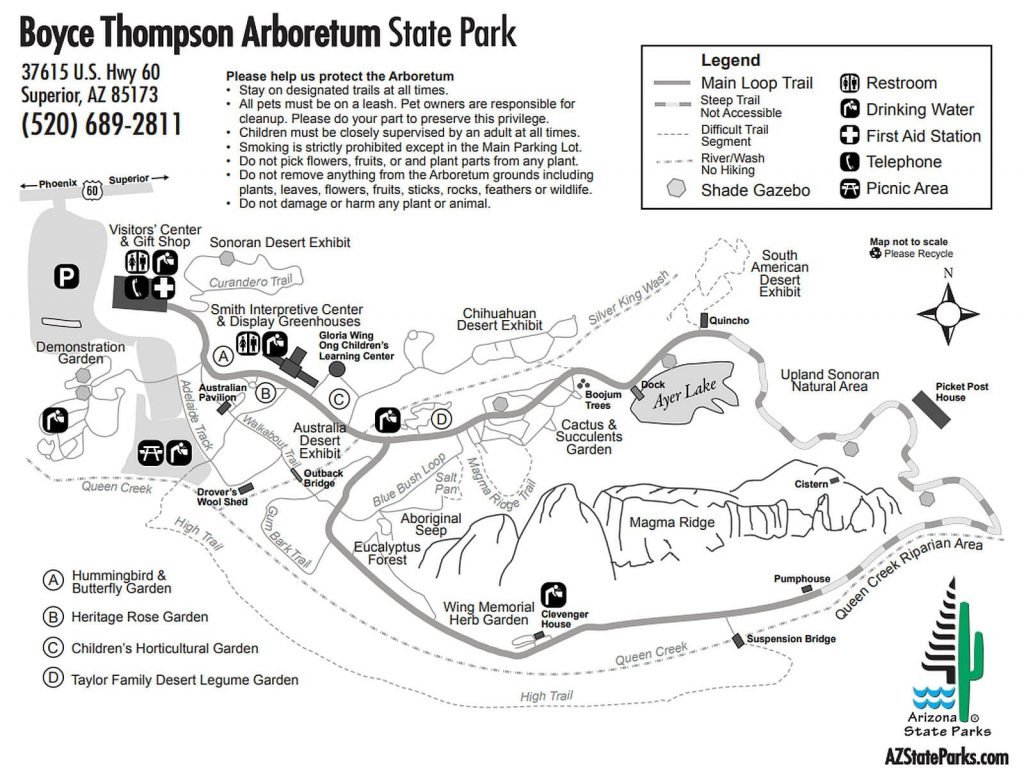 Boyce Thompson Arboretum Map