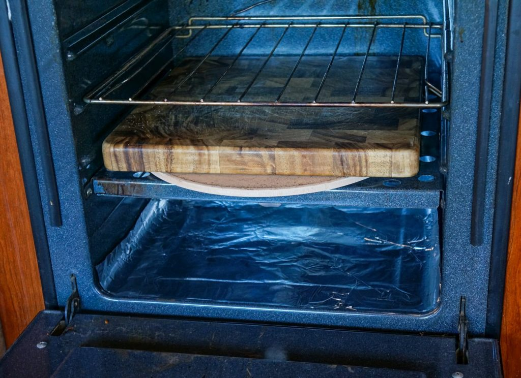 Pizza Stone in RV Gas Oven Tip