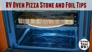 Pizza Stone in RV Gas Oven feature photo
