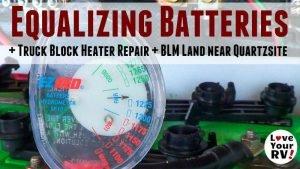 Battery Bank Equalization Quartzsite Feature Photo