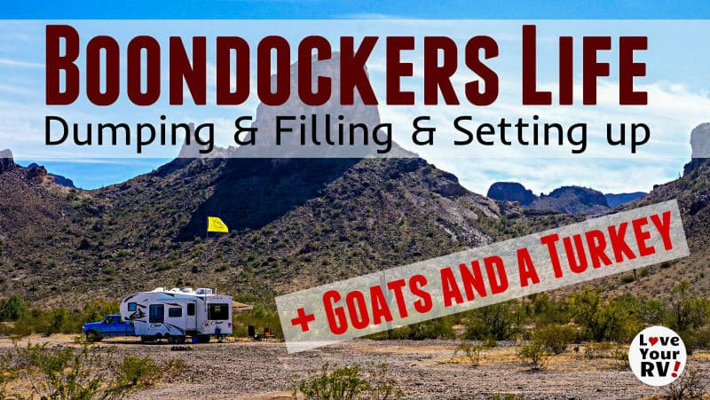 Boondocking Dump and Fill and Setting Up Feature Photo