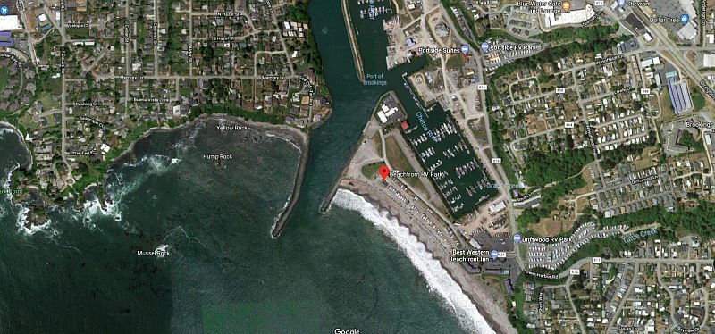 Beachfront RV Park Location in Brookings Oregon