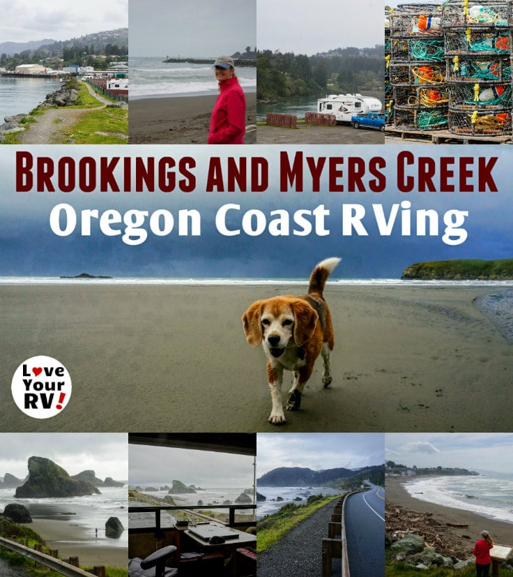 RVing the Oregon Coast Stops on Brookings and Myers Creek Beach from the Love Your RV blog - https://www.loveyourrv.com