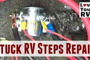 Repairing Stuck Motorhome Steps Feature Photo