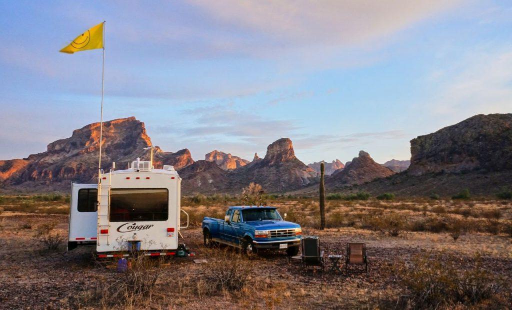 Saddle Mountain camping