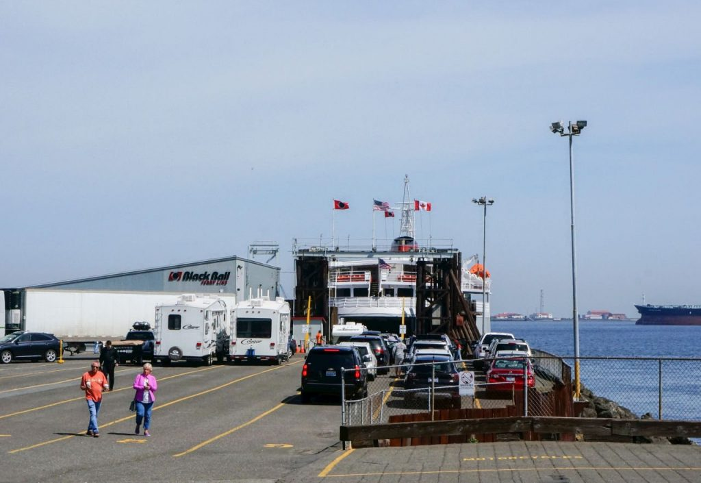 Waiting for the Coho Ferry in Port Angeles Washington State 3