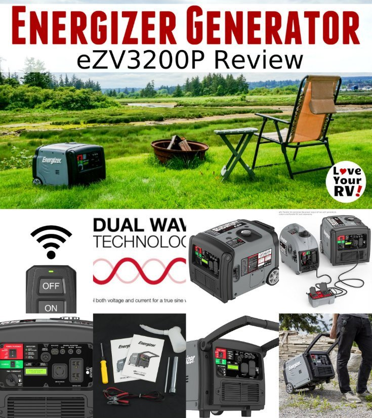 In depth review of the new Energizer eZV3200P portable inverter generator review aimed at RVers by the Love Your RV blog. I put the eZV3200P Energizer Inverter Generator through a series of tests to gauge how it performs under various RV loads. Then I discuss my overall pros and cons as I see them. - https://www.loveyourrv.com/energizer-portable-inverter-generator-review/