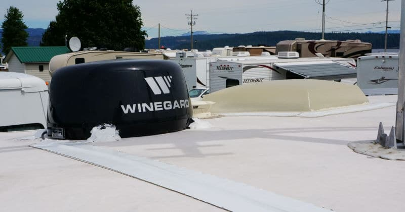 Winegard mounted on the roof
