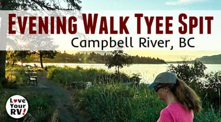 Evening Stroll on Tyee Spit in Campbell River BC