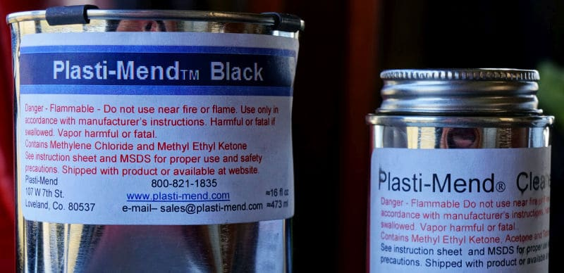 Plasti-Mend can warning labels