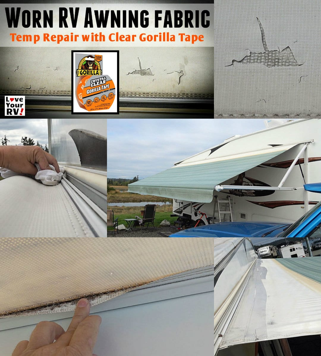 Temp Repair Patch To Our Disintegrating Rv Awning