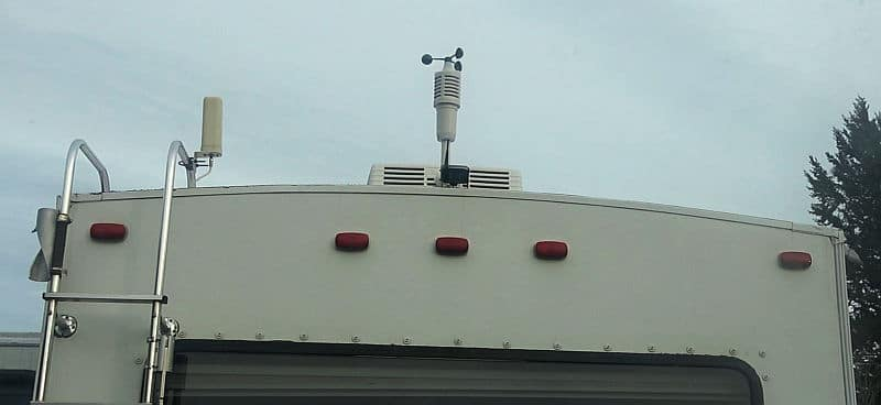 Haloview camera installed on our fifth wheel trailer