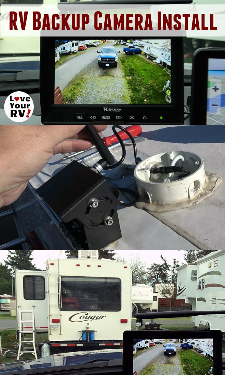 Installing a Haloview Wireless RV Backup Camera Model MC7108 on our Keystone Cougar fifth wheel trailer by the Love Your RV blog - https://www.loveyourrv.com