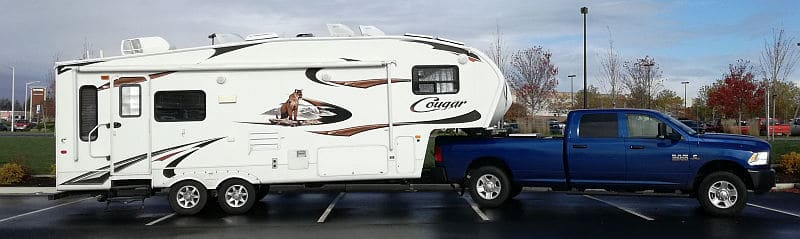Our Cougar fifth wheel trailer