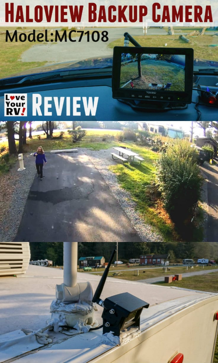 Reviewing the Haloview MC7108 RV Backup Camera kit by the Love Your RV blog - https://www.loveyourrv.com
