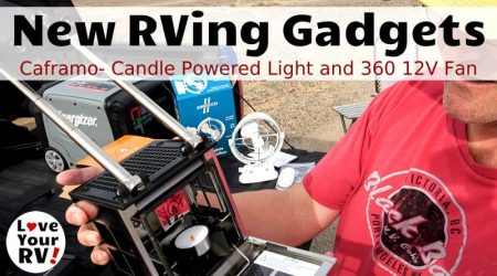 More RV Gadgets – Candle Powered Lamp & 12V 360 Degree Fan