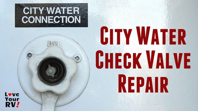 RV City Water Check Valve Repair Feature Photo