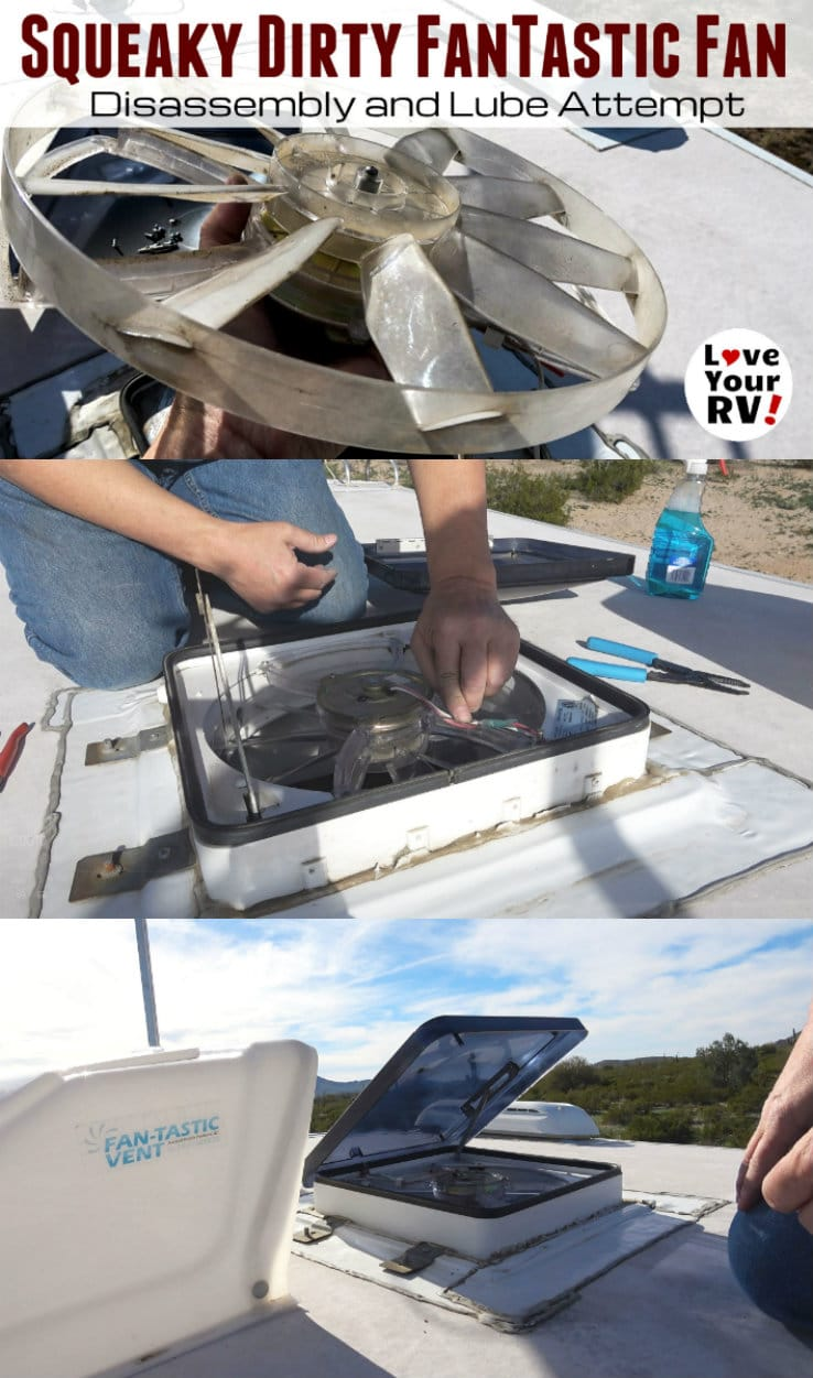 Fantastic RV vent fan maintenance and cleaning by the Love Your RV blog - https://www.loveyourrv.com