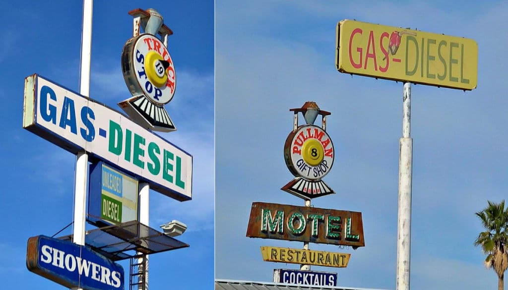 Vintage Truck Stop Signs