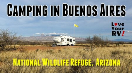 Camping in the Buenos Aires Wildlife Refuge in Arizona