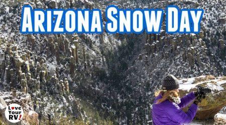 Snowy Visit to Chiricahua National Monument, Arizona