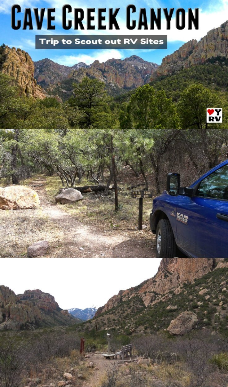 Day trip over to Cave Creek Canyon on the Coronado National Forest in Arizona. Scoping out RV camping opportunities - https://www.loveyourrv.com/checking-out-cave-creek-canyon-in-southeastern-arizona/