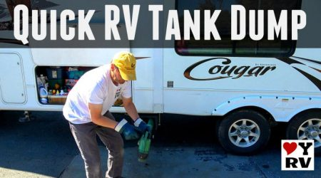 Quick and Clean RV Waste Tank Dumping Setup