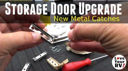 Basement RV Storage Door Upgrade – Metal Catches