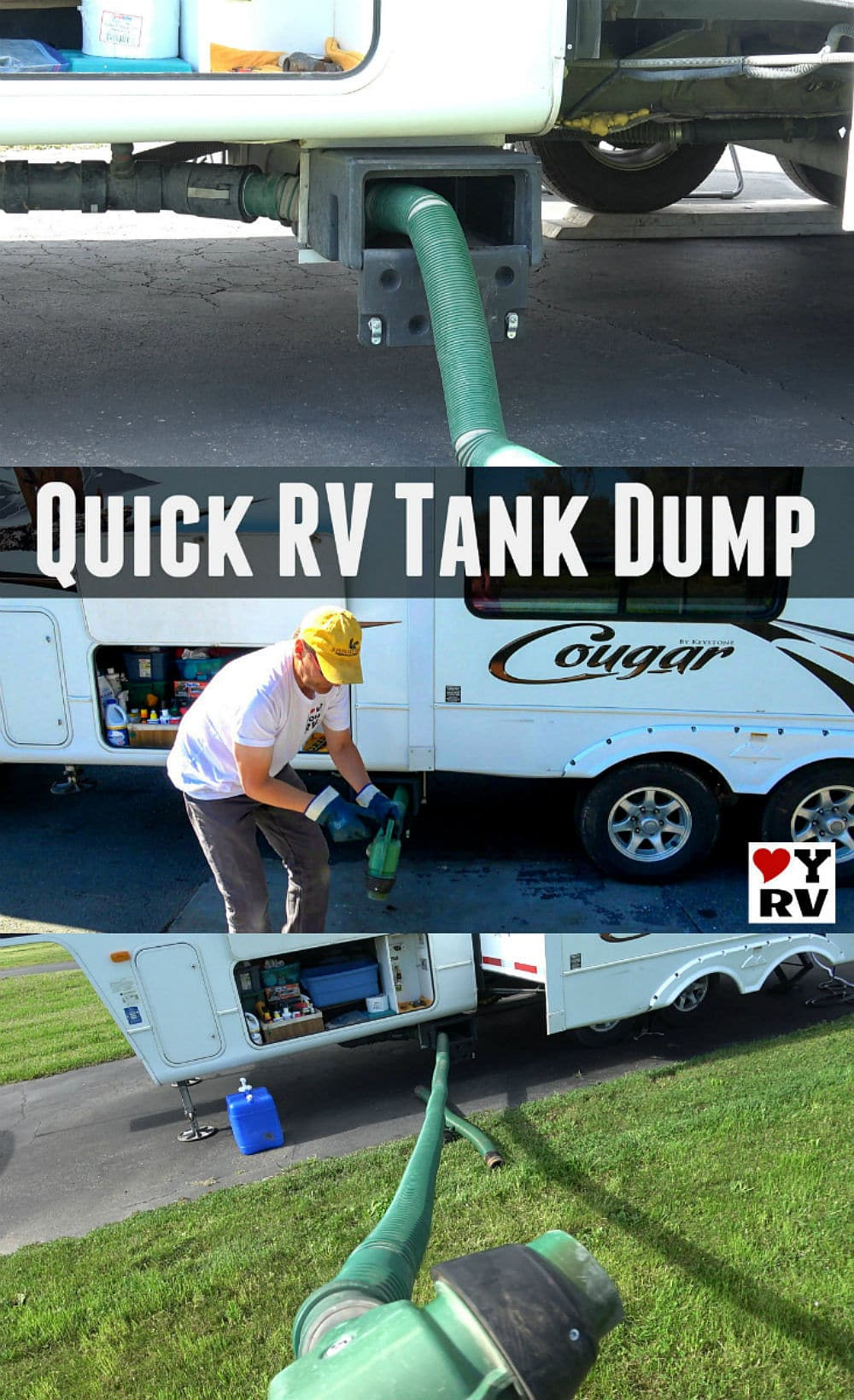 Super Quick RV Tank Dumping using my custom built sewer system with the Waste Master hose - https://www.loveyourrv.com