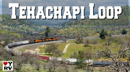 Famous Tehachapi Railway Loop in Southern California